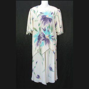 Yolanda Lorente Silk Hand Painted Skirt Set S/M